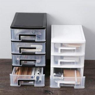 5-layer Drawer Desk Storage Box Plastic Document Sundries Holder Cosmetic Cabinet Storage Organizer Desktop Makeup Organizer Box