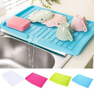 Plastic Dish Drainer Tray Large Sink Drying Rack Kitchen Ware Cutlery Drip Plate Sink Kitchen Worktop Storage Rack Organizer
