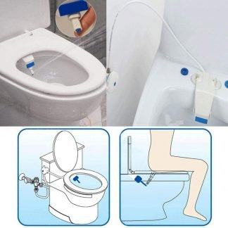 Home Bidet Fresh Water Spray Non-Electric Mechanical Self Cleaning Nozzles Bidet Toilet Seat Attachment Reduce Toilet Paper