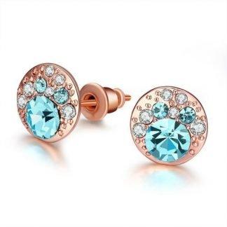 Periwinkle Blue Swarovski Elements Stud Earrings