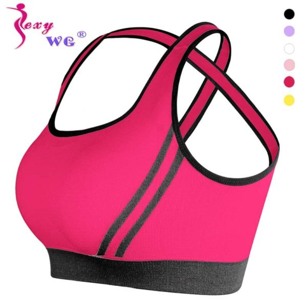 Cross-Back Sports Bra With Removable Pads