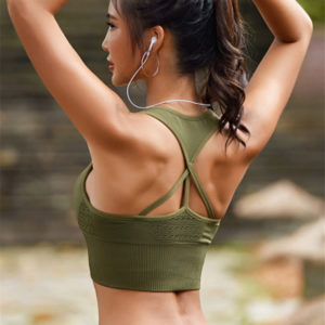 Sports Bra With Triple Back Strap