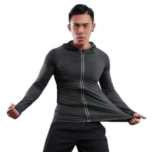 Men's Hooded Jacket With Reflective Zipper