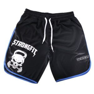 Quick Dry Skull Print Gym Shorts For Men